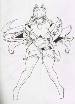 kitsune lineart