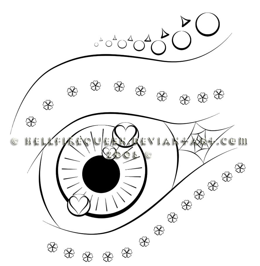 Line Art Eye : Abstract eye line art by hellfirequeen on deviantart