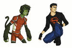 YJ Beast Boy and Superboy (rough)