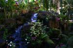 Courtyard waterfall