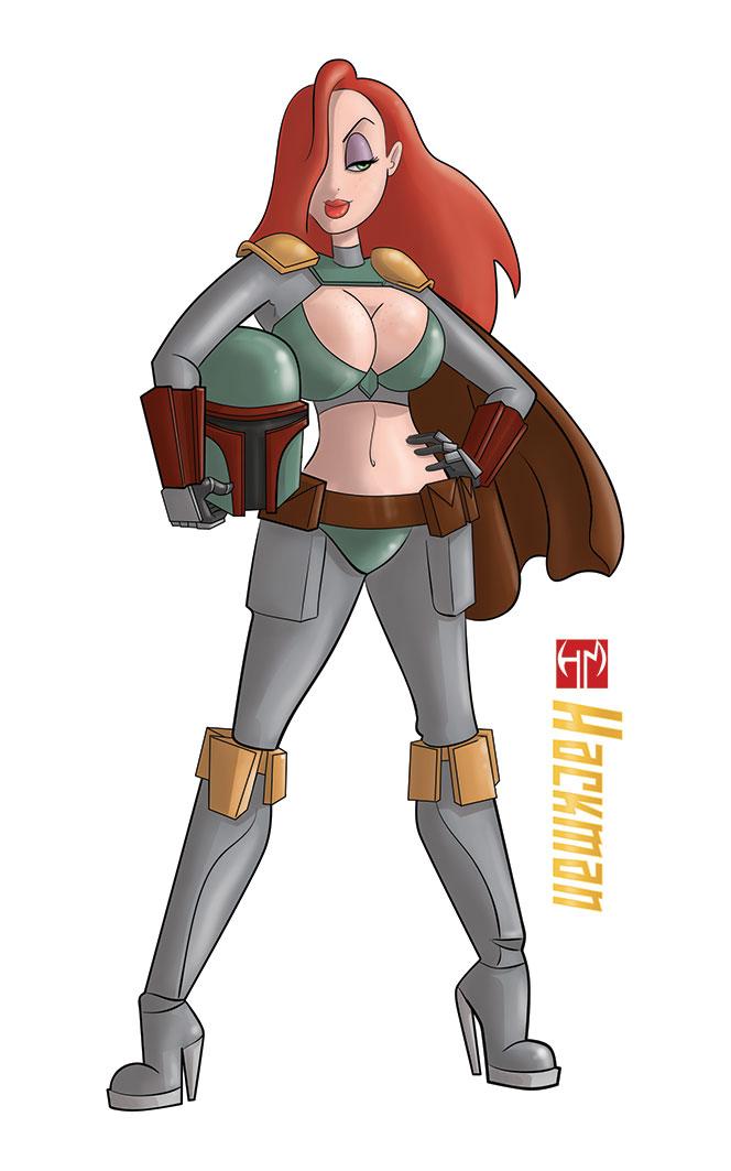 Jessica rabbit Boba Fett costume by Hackman23