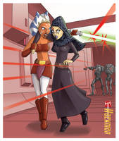 Ahsoka and Barriss - The great escape by Hackman23