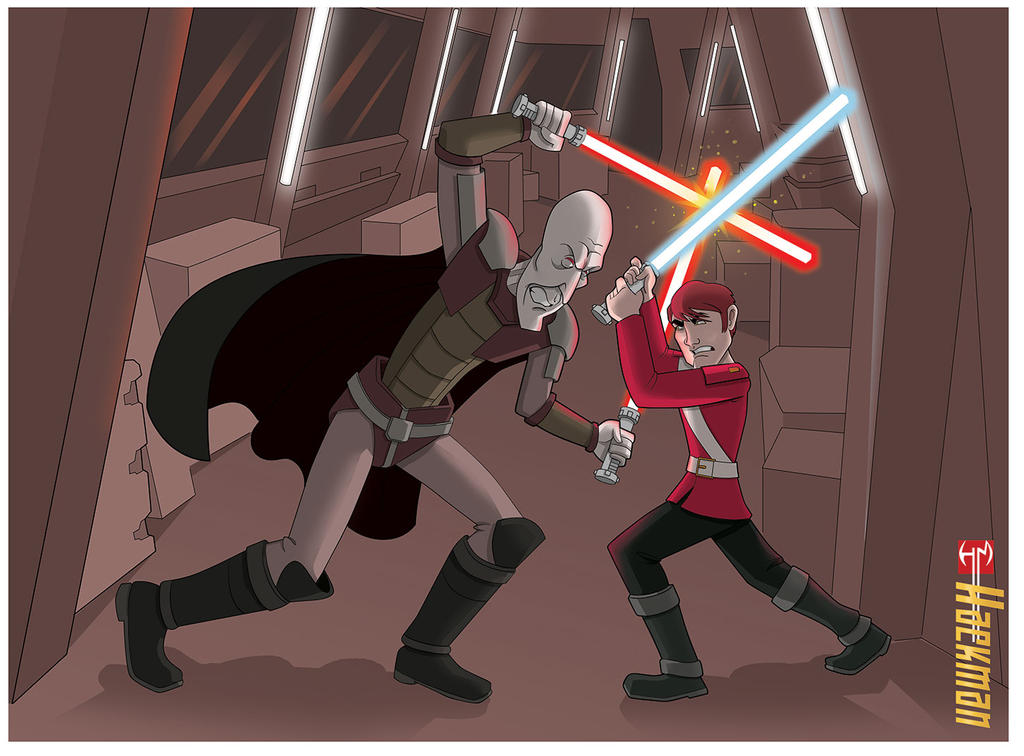 Darth Plagueis Lightsaber Duel by Hackman23 on DeviantArt