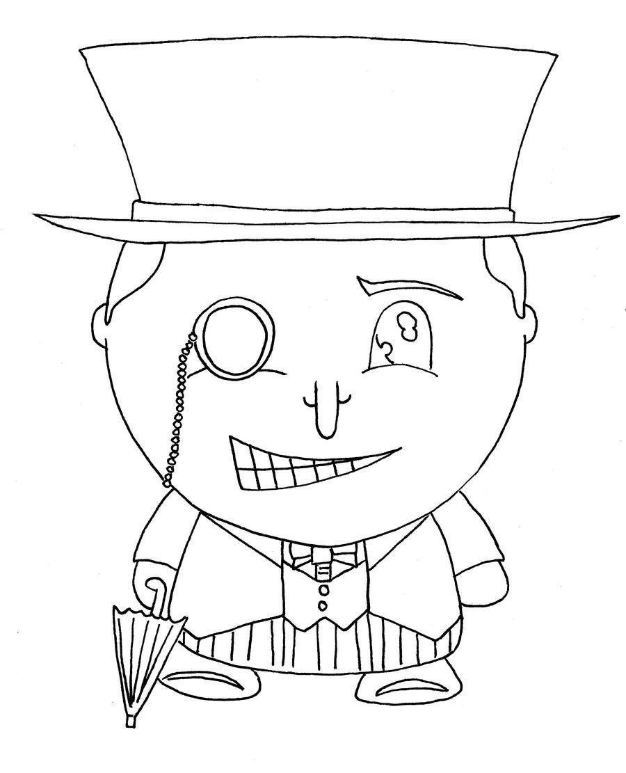 chibi batman coloring pages - photo#22