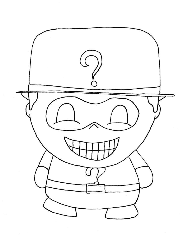 chibi batman coloring pages-#15