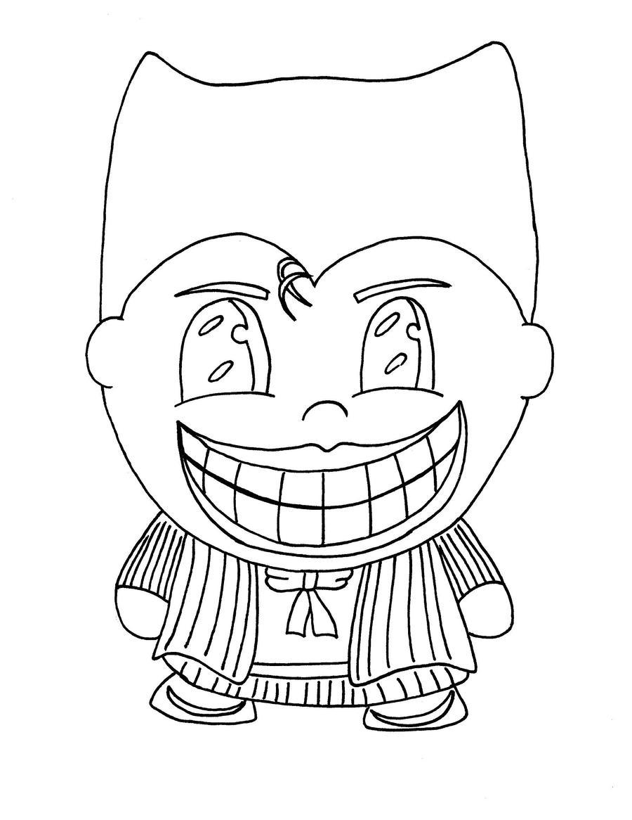 chibi batman coloring pages-#11