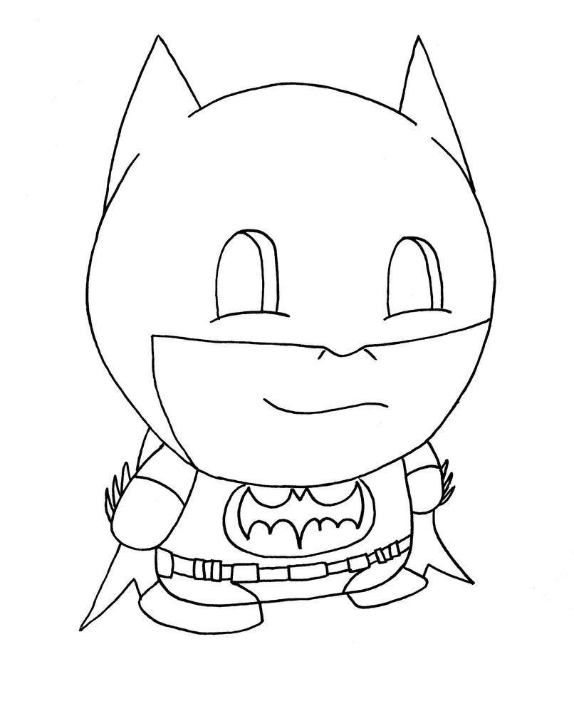 chibi batman coloring pages - photo#18