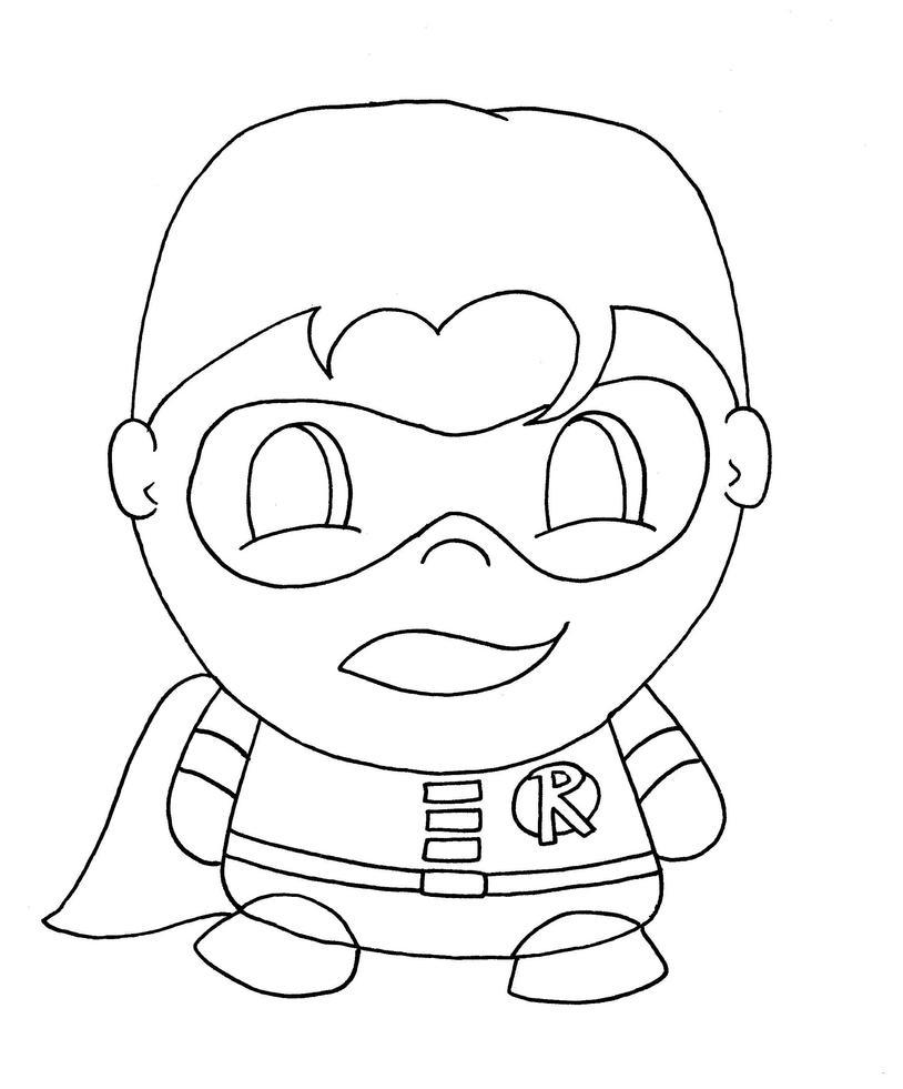 chibi batman coloring pages - photo#8
