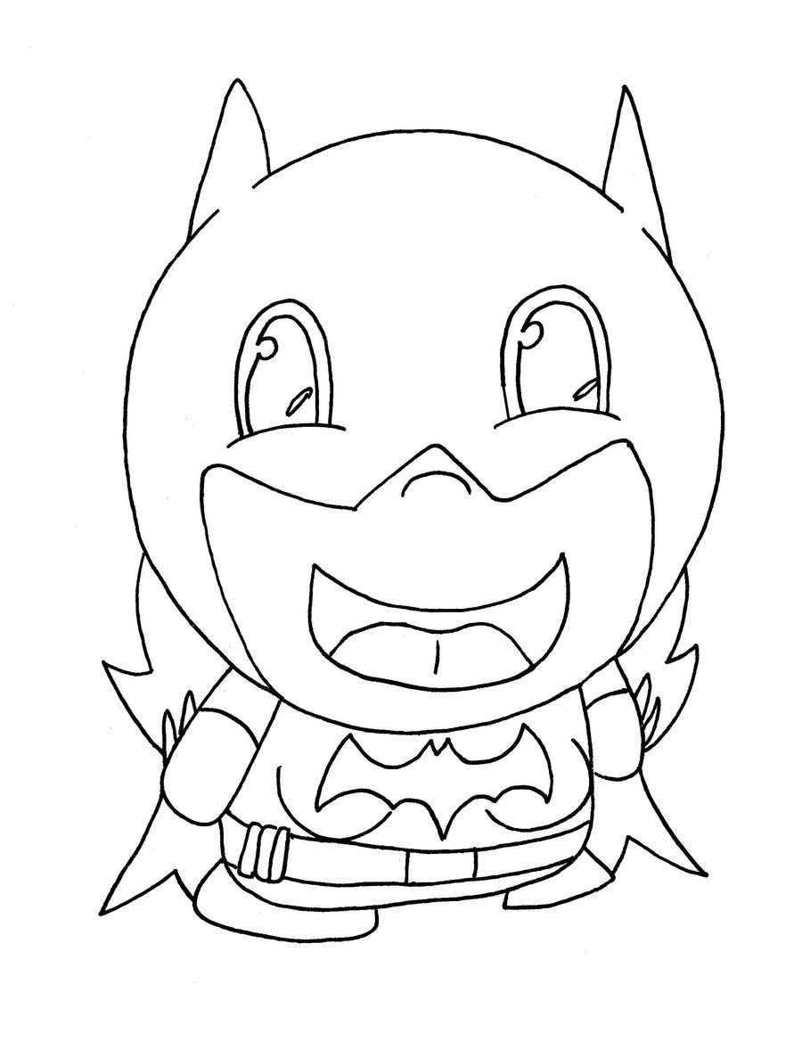 chibi batman coloring pages - photo#14