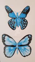 Blue Butterflies II