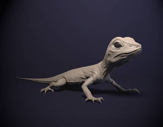 mudbox contest : lizard by KenichiNishida