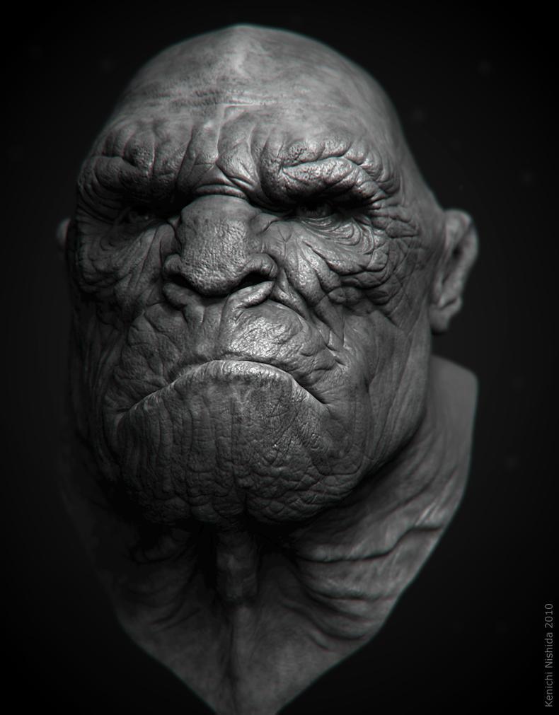 human-like ape by KenichiNishida