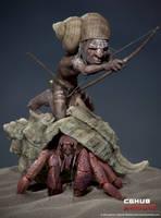 A Little Warrior by KenichiNishida
