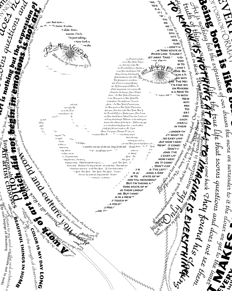 Typography Self-portrait by jenheinser