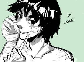 Lee Sketch (De Stress Doodles) by Moo-feeler