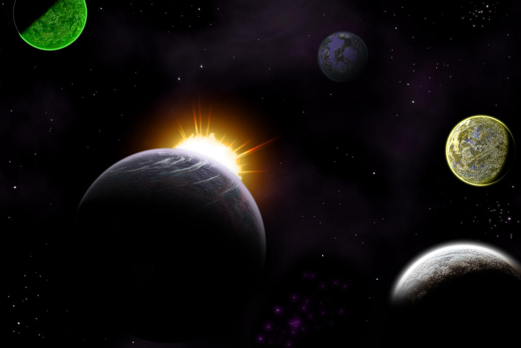 Unknown Solar System by TheUnknownX on deviantART