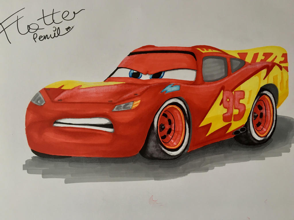 lightning mcqueen with new paint job from cars 3 by. Black Bedroom Furniture Sets. Home Design Ideas