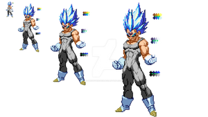 Super Saiyan Blue Majin Vegeta Custom Sprite