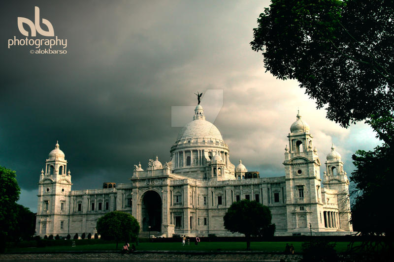 Victoria Memorial at Kolkata by alokbarso