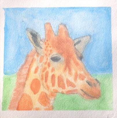 Giraffe Head by Xx-Vintage-Girl-xX