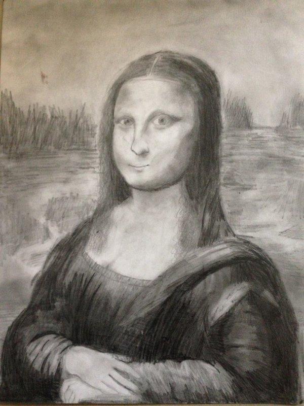 Mona Lisa In Pencil by Xx-Vintage-Girl-xX