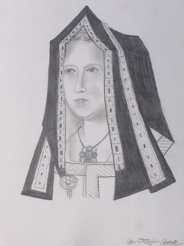 Elizabeth Of York in pencil by Xx-Vintage-Girl-xX