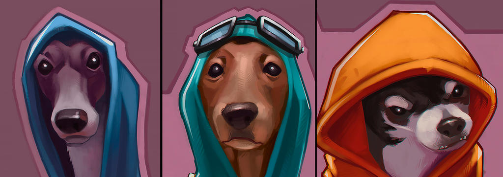 DOG FELLAS close up by manerarts