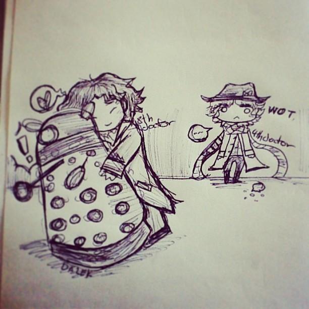 8th doctor and dalek by lovescraf
