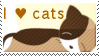 Stamp: I love cats by xEjix