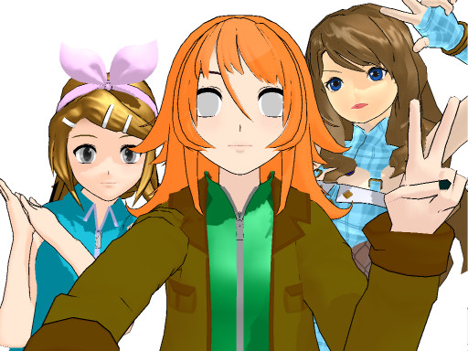 #selfie with hailey and niamh by robloxlittle