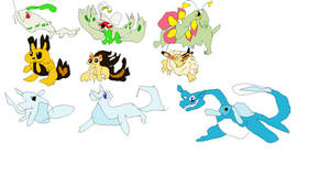 Pokemon Gold and Silver beta starters by fazbear1980