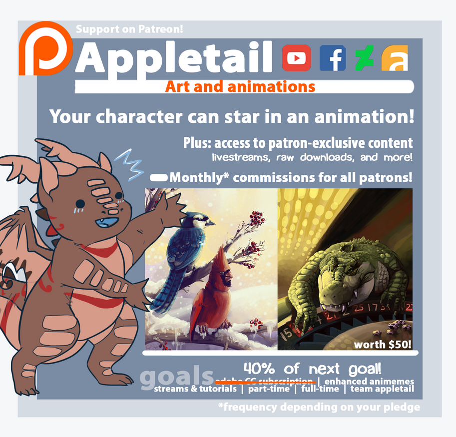 Support me on Patreon! by Appletail