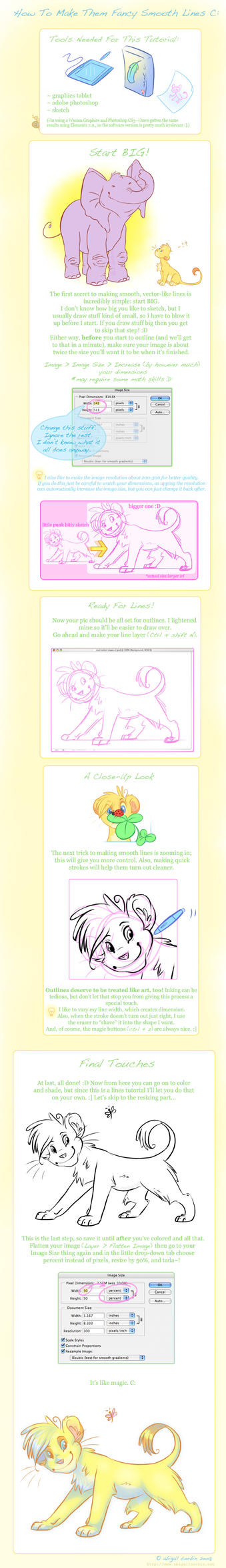 Digital Drawing Smooth Lines : Smooth lines tutorial by simbagirl on deviantart
