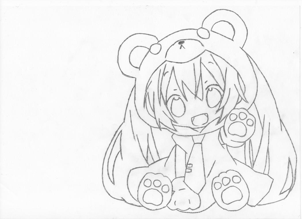 chibi hatsune miku by hybridcell on deviantartchibi vocaloid coloring pages - Hatsune Miku Chibi Coloring Pages