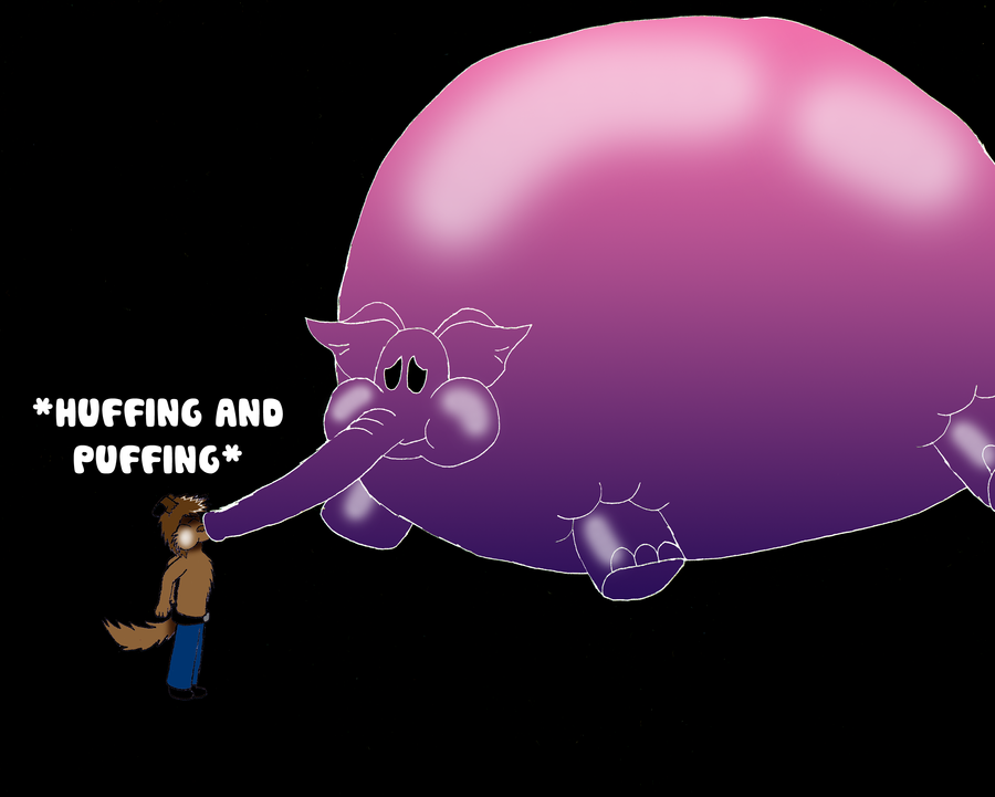 Pink Elephant Inflated By Tofertheakita On Deviantart