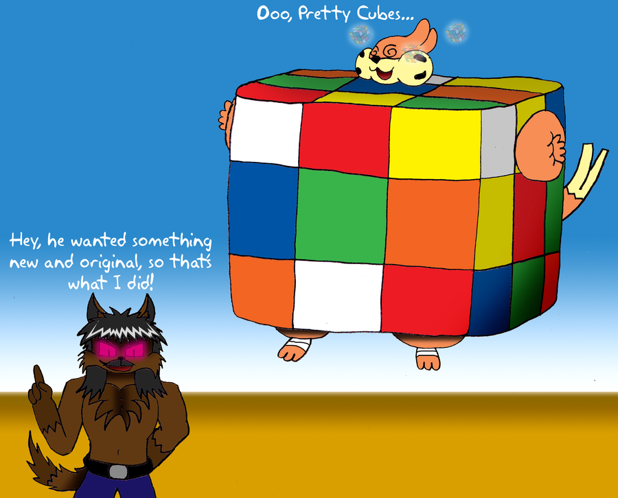 The First Rubik Cube Balloon by ToferTheAkita