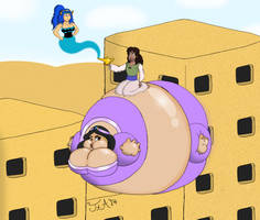 Sadria Gets Her Very Own Genie... by ToferTheAkita