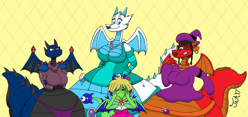 A Lovely Family Of Dragons...