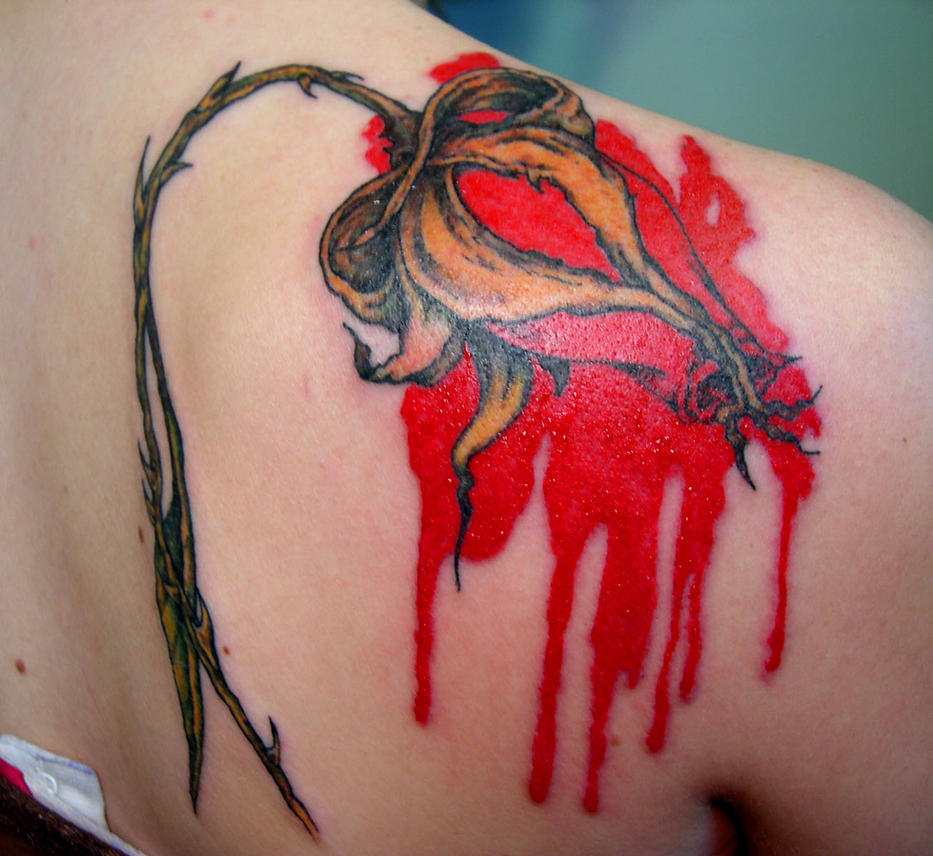 Pink Floyd Bleeding Rose By Merylwitch On Deviantart