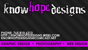 knowhopedesigns Business Card.