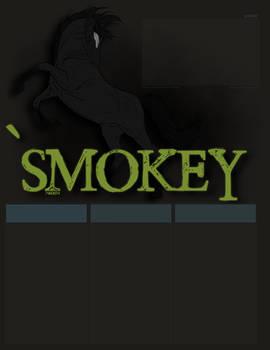 'Smokey Line-Art Painting Layout