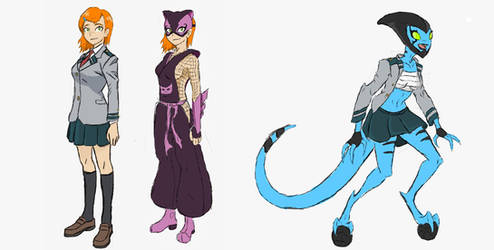 Gwen and Helen MHA style (Rise of Ben 10)