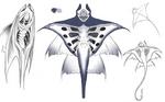 MantaRay Character Concept Art