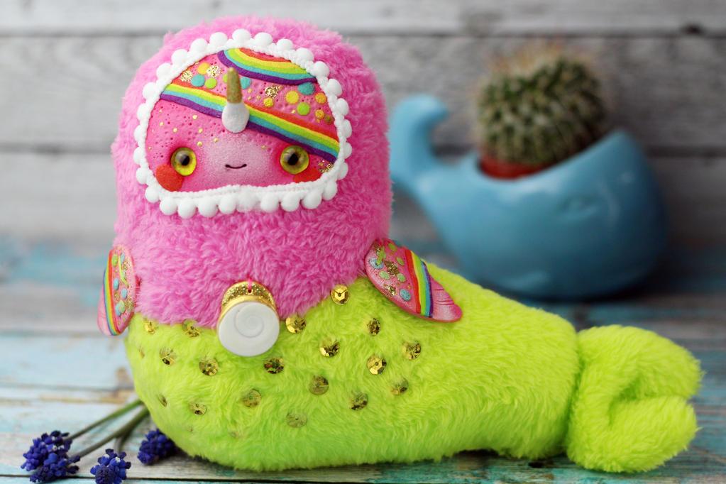 Narwhal- mermaid doll by SoniaMarmeladova