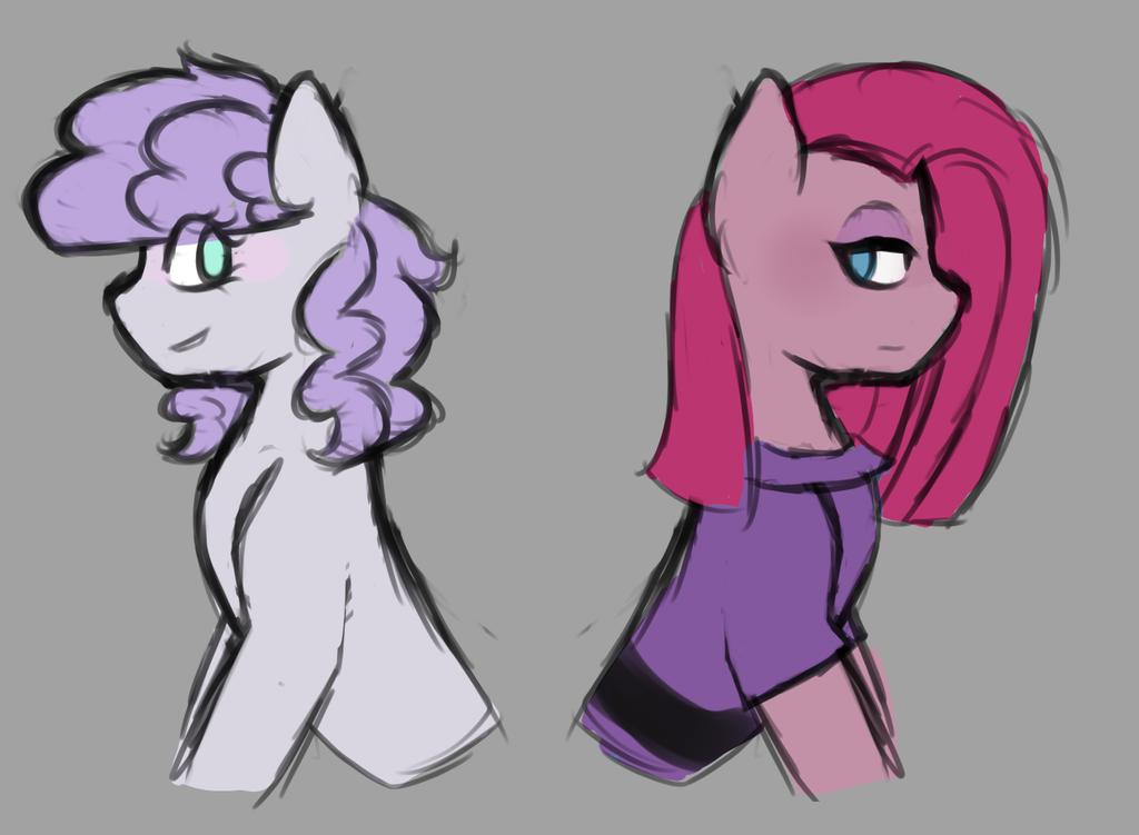 Maud and pinkie by Idoartz