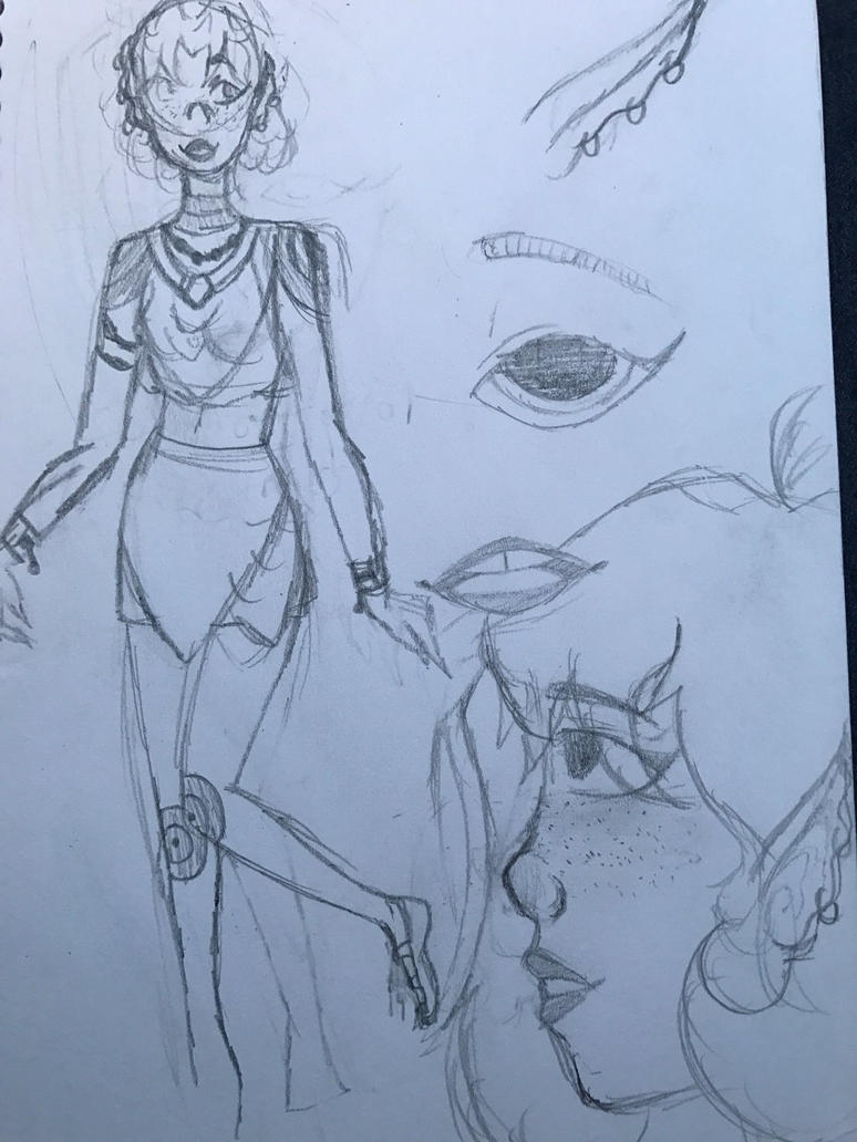 Random sketch page by ProcrastinatingTiger