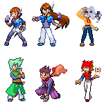 ZX Advent Pokemon Trainers by axlluvr1324