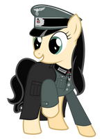 Dark rainbow in her Uniform by BRONYVAGINEER