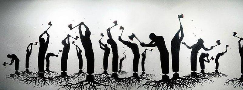DESTRUCTION OF HUMANS  by komalsihani