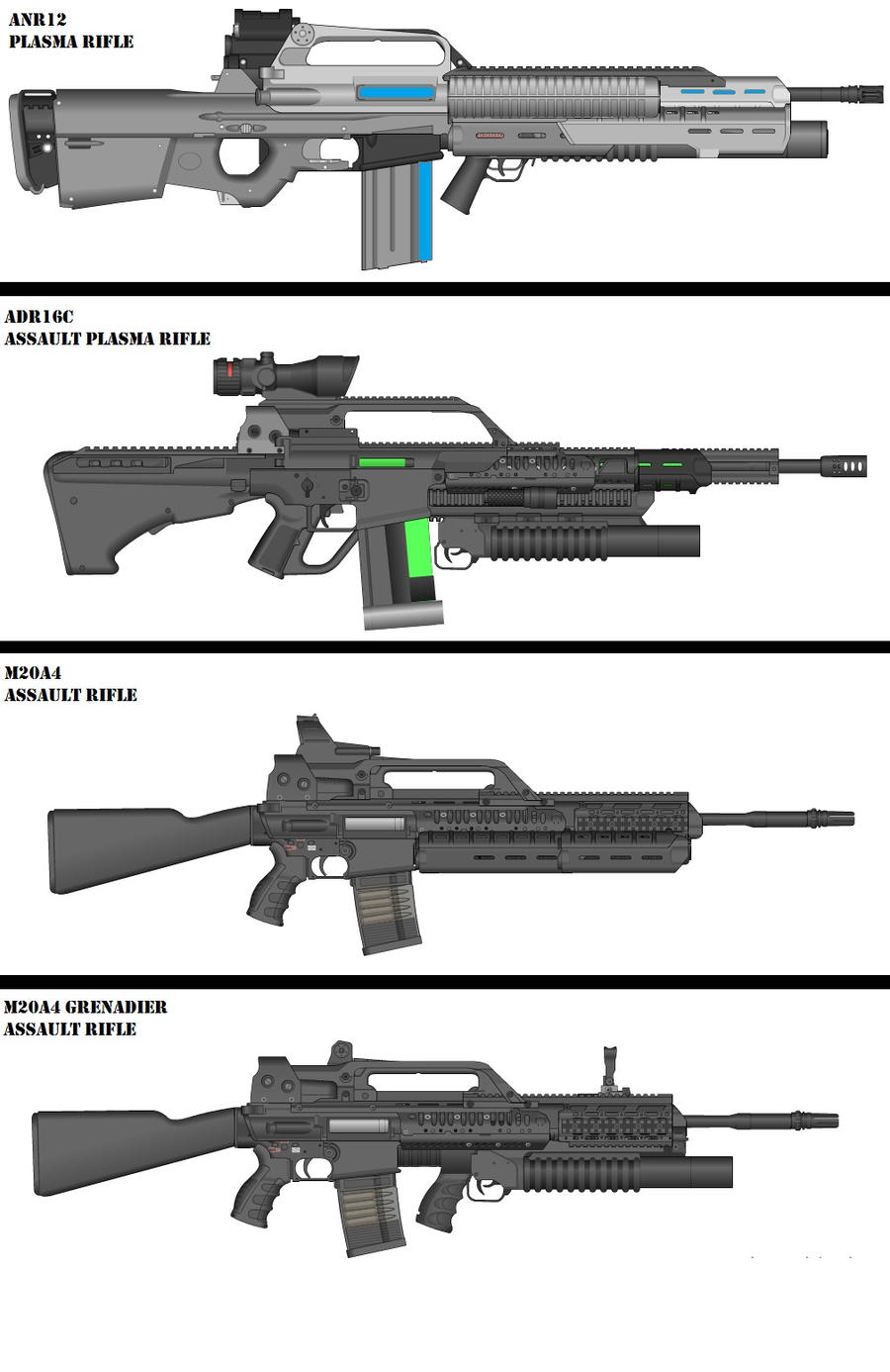 Military Weapon variants JPG 3 by Marksman104